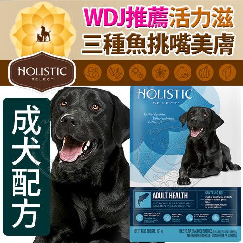 【培菓平價寵物網】新包裝活力滋Holistic》成犬三種魚挑嘴美膚-4lb/1.81kg