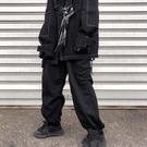 復古大碼嘻哈寬松工裝闊腿束腳運動衛褲男加絨【英賽德3C數碼館】