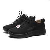SKECHERS 休閒鞋 GO WALK ARCH FIT 全黑 足弓款 網布 運動鞋 男 (布魯克林) 216116BBK