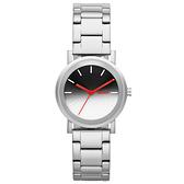 DKNY 紐約風格時尚三針腕錶-漸層色x銀