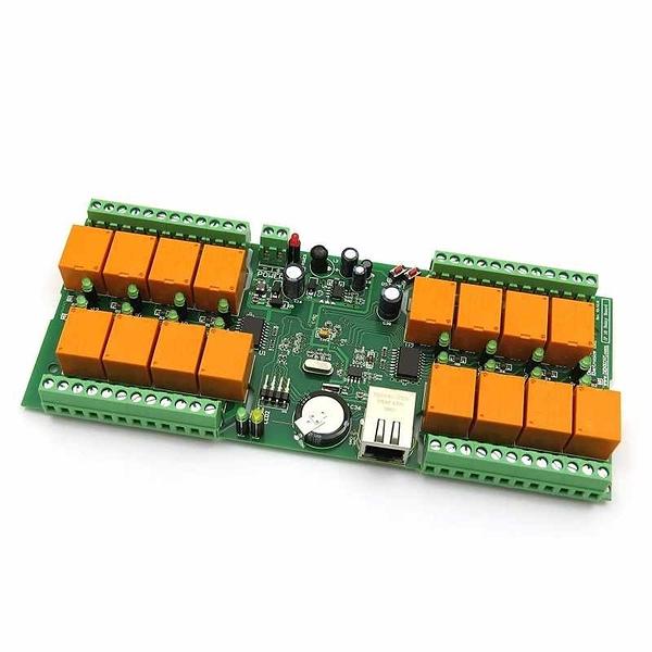 Denkovi smartDEN LAN以太網IP 16 Channels Web Relay standalone Board - 12VDC, SNMP, XML/HTTP [2美國直購]
