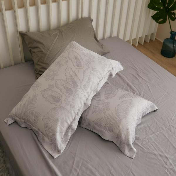 天絲 床包被套組(鋪棉被套) 單人【棕櫚島】涼感 親膚 100%tencel 萊賽爾纖維 翔仔居家