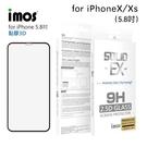imos iPhone X/ Xs 5.8吋「神極3D款」點膠3D 2.5D滿版玻璃貼(黑邊) 美商康寧公司授權 (AG2bC)
