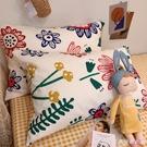 枕套梵高之花一對裝純棉枕套單人全棉枕頭套忱頭外套兒童加厚單個 快速出貨