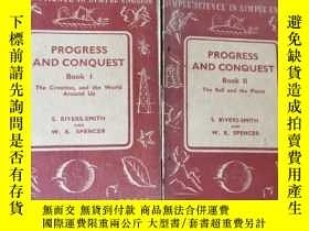 二手書博民逛書店progress罕見and conquest book 1.2 全兩冊合售Y11245 s.rivers-sm