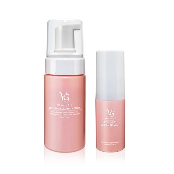 VG薇姬娜 私密潔淨慕斯 100 ml + 私密護理噴霧/噴劑 15 ml 粉色加強版 全效防護組 (贈品3選1)