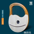 拇指琴 伯朗小豎琴19弦萊雅琴箜篌小眾樂器便攜式小型lyre里拉琴女生自學 韓菲兒