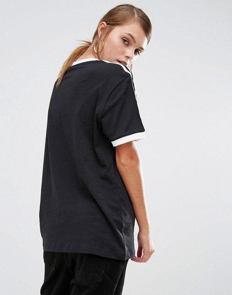 ADIDAS ORIGINALS 愛迪達 三葉草 黑色 黑白 基本款 三條 AZ8127 短t 短袖T恤/澤米