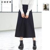 出清 A字裙 工裝中長裙 葛城厚斜紋布 彈性 免運費 日本品牌【coen】