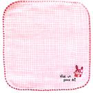 純棉刺繡小方巾(紗布+毛巾)-小狗 (16x16cm)