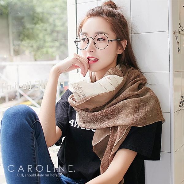 《Caroline》★ 八色可選圍巾秋冬百搭必備款 秋冬新款時尚保暖棉麻圍巾70024