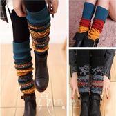 及膝襪-韓國靴套毛線針織襪套過膝襪護腿襪套彩色長襪套女秋冬保暖腿套-韓先生