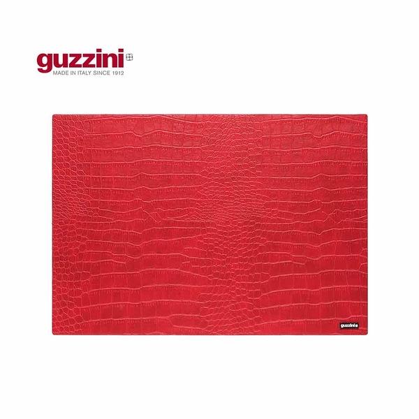 義大利GUZZINI 鱷魚皮紋系列-43×30CM紅色餐墊