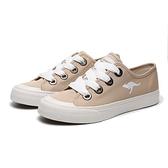 KANGAROOS 休閒鞋 FANCY 奶茶 寬綁帶 手工帆布鞋 女 (布魯克林) KW11281
