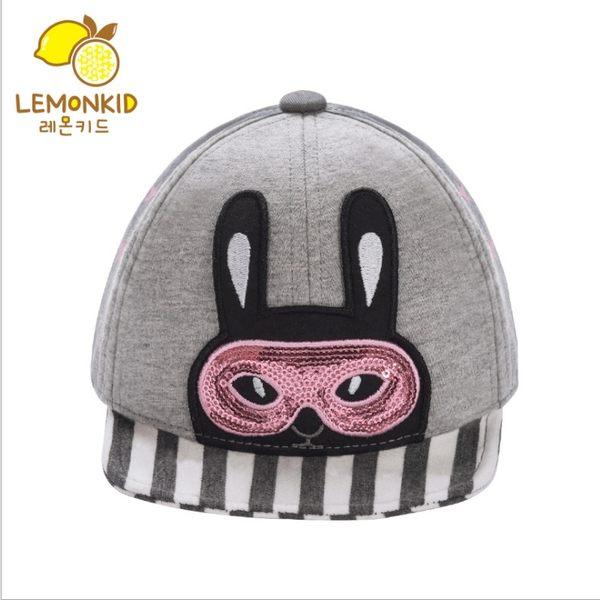 Lemonkid 檸檬寶寶 可愛潮流時尚閃亮星星小兔子動物條紋兒童鴨舌棒球帽 男女款 27010
