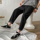 休閒長褲子男士韓版潮流九分直筒寬鬆運動褲春夏季薄款冰絲速亁褲 夏季狂歡