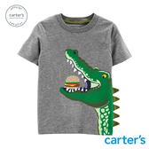 【美國 carter s】 恐龍吃漢堡印圖上衣-台灣總代理