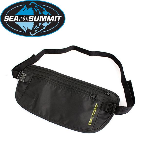 【Sea to Summit 澳洲 藏錢腰包《黑/淺灰》】防竊腰包/零錢袋/旅行腰包/STSATLMBBK★滿額送