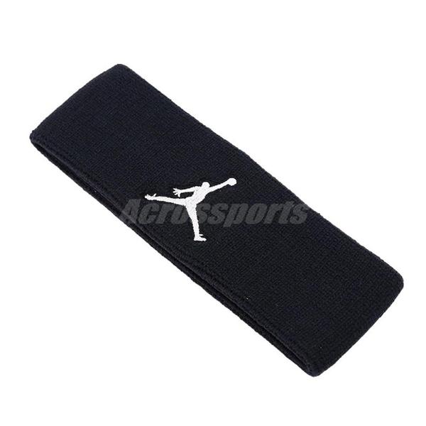 Nike 頭帶 Jordan Jumpman 喬丹 飛人 黑 白 棉質 頭帶 吸汗 排汗 籃球 健身房【ACS】 JKN0001-0OS