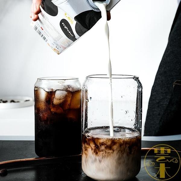 可樂杯創意玻璃水杯子咖啡杯易拉罐杯子奶茶杯雞尾酒杯【雲木雜貨】