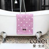 Lovel 專利咖啡紗除臭抗UV圓點浴巾-紫