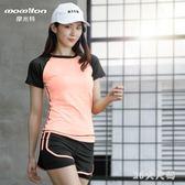 運動套裝春秋新款瑜伽服健身房跑步寬鬆速干衣專業健身服 QQ23141『MG大尺碼』