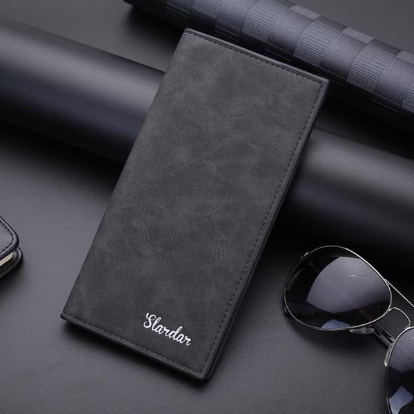 錢包男長款潮牌時尚皮夾學生簡約韓版新款多卡位超薄男士卡包 黛尼時尚精品