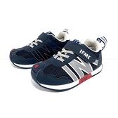 《7+1童鞋》中童 日本IFME 機能輕量 運動鞋 D491 藍色
