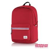 AT美國旅行者 Carter防水拉鍊繽紛海洋風休閒後背包(紅)