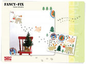 Wall Sticker 聖誕PARTY  壁貼50x70cm PVC 防水環保可移壁貼X
