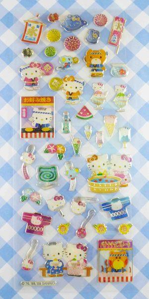 【震撼精品百貨】Hello Kitty 凱蒂貓~KITTY立體貼紙-祭典
