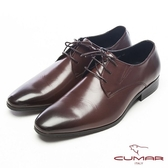 CUMAR簡約造型真皮紳士鞋-深咖啡