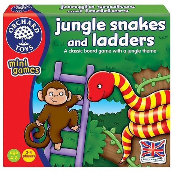 【英國 Orchard Toys】可攜兒童桌遊-叢林遇到蛇 OT-352