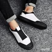 秋冬季懶人鞋休閒板鞋豆豆鞋男帆布鞋潮流透氣老北京布鞋子青少年 LR14418【Sweet家居】