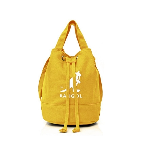 KANGOL ALICE CANVAS BUCKET BAG 帆布束口水桶包 黃 6925300760