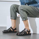 涼鞋 情侶款平底鞋 休閒沙灘鞋【非凡上品】nx2418