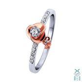 ﹝鑽石屋﹞10分鑽戒 雙色K金鑰匙戒指 天然鑽石  DA032851