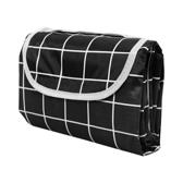 【Incare】防水收納摺疊便攜野餐墊(加大款/200x200cm)黑格