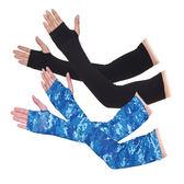冰爽袖套防曬手套女薄長款男士開車袖子夏季冰絲套護臂袖