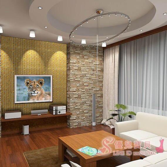 金碧輝煌馬賽克電視背景墻貼玻璃水晶瓷磚金黃色 免運商品