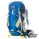 PolarStar】透氣網架背包45L『藍』P18712 露營.戶外.旅遊.多隔間.登山背包.後背包.肩背包.行李包