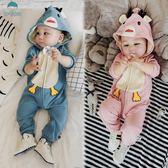 連身裝 嬰兒連身衣秋裝新款新生兒長袖卡通爬服男女寶寶哈衣服春秋0-1歲 萬聖節