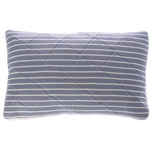 雙效涼感防蹣抗菌記憶枕 條紋樣式 加高型