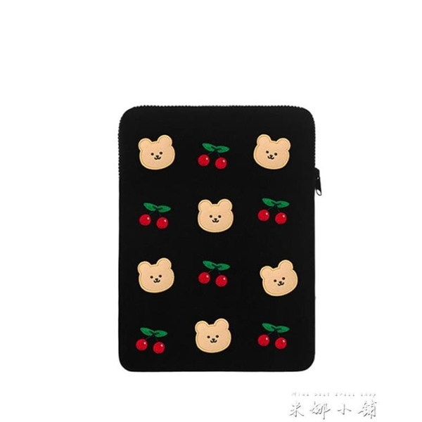 韓國INS可愛小熊刺繡手拿平板ipad筆記本電腦11/13/15寸內膽包