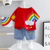 1嬰兒童裝2歲男寶寶韓版短袖套裝3男童夏季潮衣服4小童夏裝兩件套 【快速出貨】