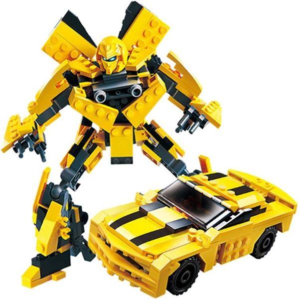 兼容樂高積木拼裝益智力兒童男孩子大黃蜂變形玩具金剛機器人10歲 滿天星
