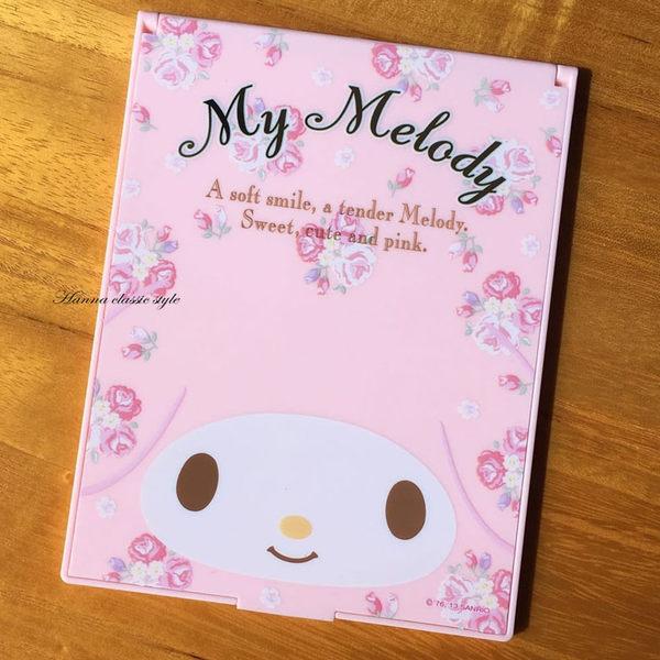 《花花創意会社》 外流。MELODY兔玫瑰粉可折疊化妝鏡【H4789】