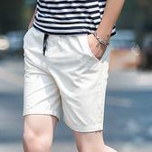 夏季新款男士純棉短褲五分褲中青年休閒沙灘褲大褲衩純色寬鬆馬褲 衣櫥の秘密