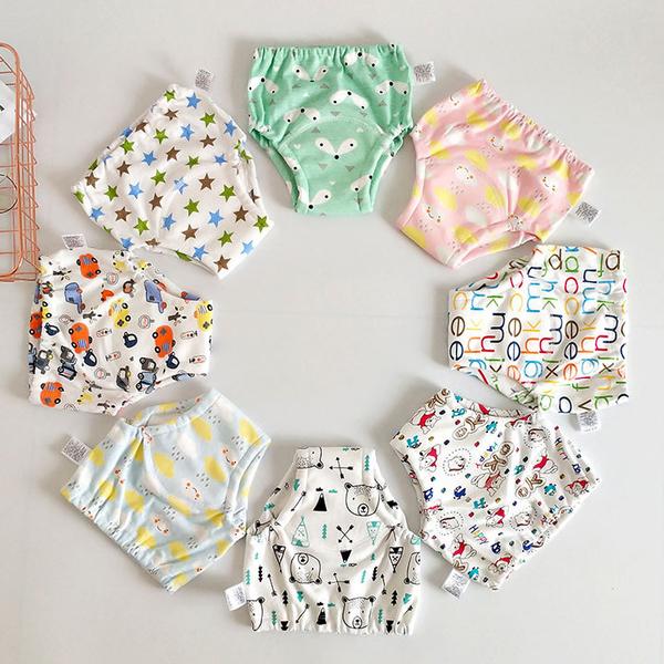 學習褲 寶寶 戒尿布 防水 防漏 六層紗布 訓練褲