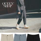 Queen Shop【04030257】基本窄管九分西裝褲 三色售 S/M/L*現+預*